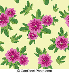 seamless floral texture with malva