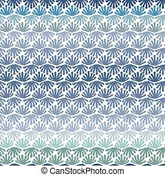 Vector seamless floral tile gradient blue pattern