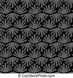 Vector seamless floral tile grey pattern