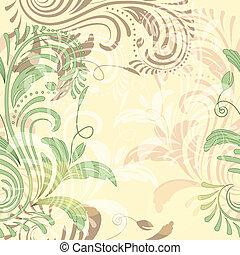 vector seamless floral vintage background
