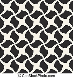 Vector seamless geometric pattern - monochrome design.