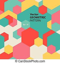 Vector seamless geometric pattern