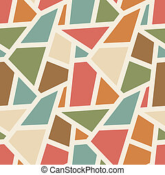 Vector seamless geometric pattern - simple abstract vintage color background for design