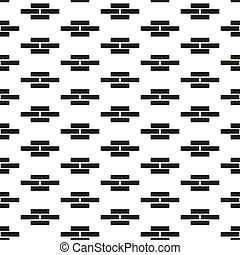 Vector seamless geometric pattern. Simple endless minimalistic background. Black and white brick wall design