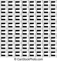 Vector seamless geometric pattern with squares and lines making an optical illusion