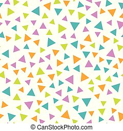 Vector seamless geometric pattern with triangles