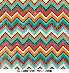 Seamless Geometric Zigzag Background - Vector Seamless...