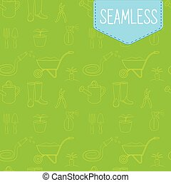 Vector seamless green pattern of