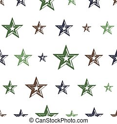 vector seamless grunge military pattern with stars