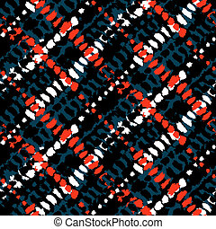 Vector seamless grunge plaid pattern
