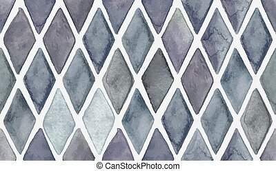 Vector Seamless Hand Drawn Checked Pattern