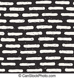 Vector Seamless Hand Drawn Horizontal Grunge Rounded Lines Pattern