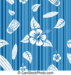 Vector seamless Hawaiian pattern