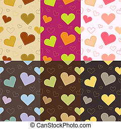 Vector seamless hearts background