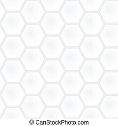 Vector seamless honeycomb light gray pattern - square geometric polygonal texture. White and black simple graphic modern background
