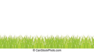 vector seamless illustration of green grass border clip art vector rh canstockphoto com landscape border clip art Flowers and Grass Border Clip Art