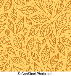 Vector seamless illustration with leaves.