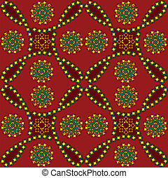 seamless in ethnic style - vector seamless in ethnic style