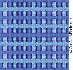 Vector seamless interwoven texture