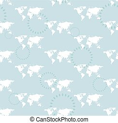 vector seamless light pattern with maps of the world