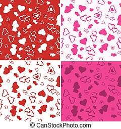 Seamless Love Background Set