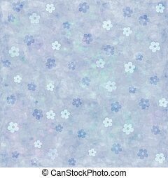 background with blue flowers.