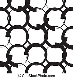Monochrome Geometric Pattern - Vector Seamless Monochrome...