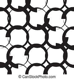 Monochrome Geometric Pattern - Vector Seamless Monochrome...