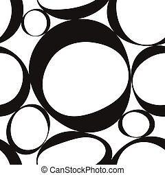 Seamless Monochrome Geometric Pattern - Vector Seamless...