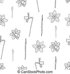 Vector seamless narcissus pattern.
