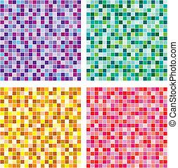 Vector seamless of mosaic pattern