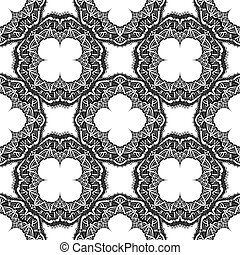 Vector seamless ornamental background