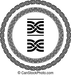 vector seamless ornamental knot frames