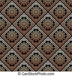 Vector - Seamless ornate golden pattern
