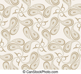 Vector seamless paisley background