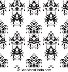 Vector Seamless Paisley Doodle Pattern