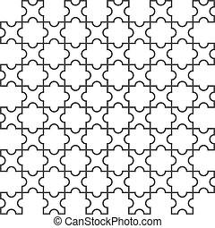 vector, seamless, patrón, en, islámico, estilo