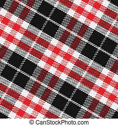 vector, seamless, patrón, escocés, tartán, 3