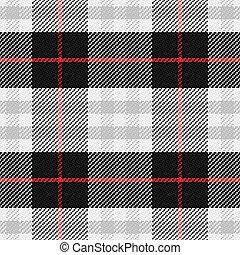 vector, seamless, patrón, escocés, tartán