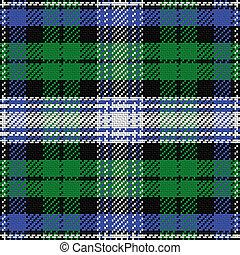 vector, seamless, patrón, escocés, tartán, negro, reloj, 2