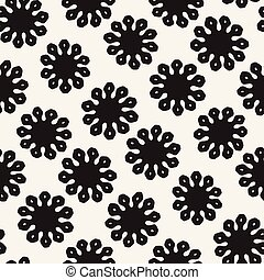 Vector seamless pattern. Abstract background with floral brush strokes.
