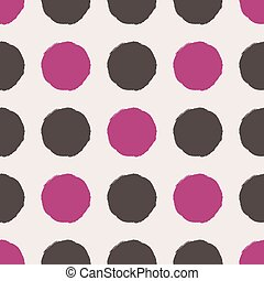 Vector seamless pattern. Abstract background with round