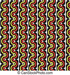 Vector seamless pattern - abstract background in curve rainbow colors