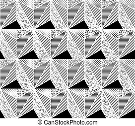 Vector Seamless Pattern. Abstract Geometric
