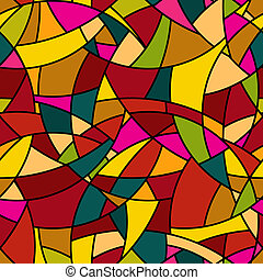 Vector seamless pattern - abstract mosaic stained-glass window s