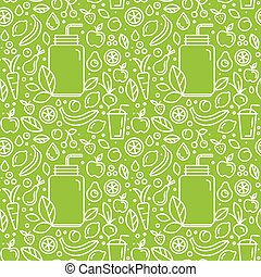Vector seamless pattern and background for food packaging -...