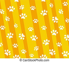 Vector seamless pattern and background with icons footprint to c