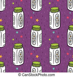 Vector seamless pattern baby powder