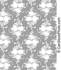 Vector seamless pattern. Background for for fabrics, textiles, paper, wallpaper. Vintage style.