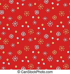 Vector seamless pattern background. Winter snowflakes and snowballs on blue background. Can be used for fashion, textile, scrapbooking, wall paper and decoration projects.